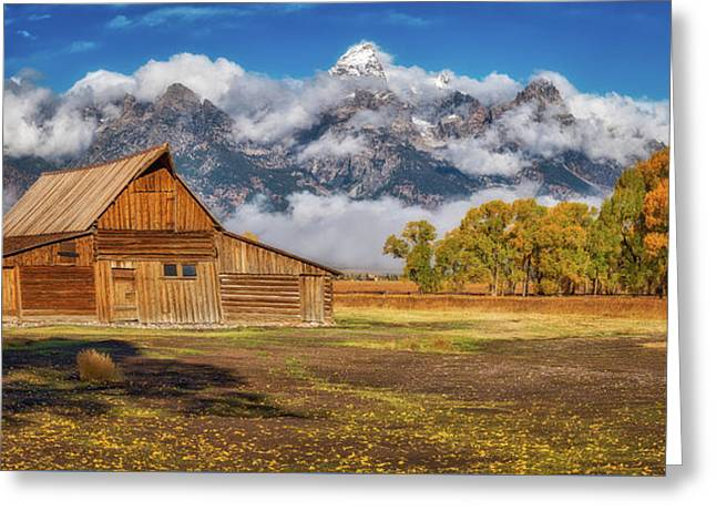 Warm Morning Light In The Tetons Greeting Card