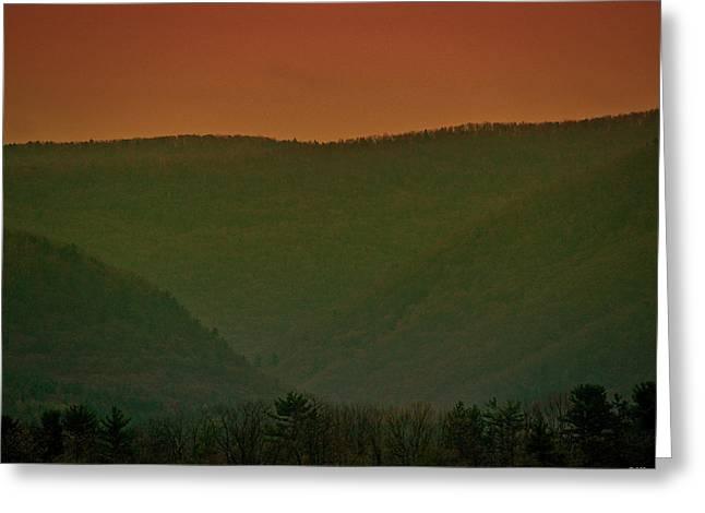 Warm Spring Mountains Greeting Card by Debra     Vatalaro