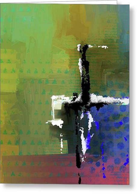 Greeting Card featuring the mixed media Warm Spring Night by Eduardo Tavares