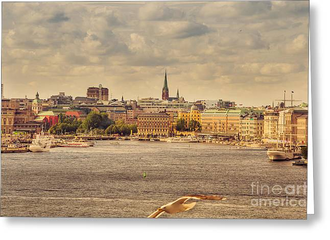 Warm Stockholm View Greeting Card