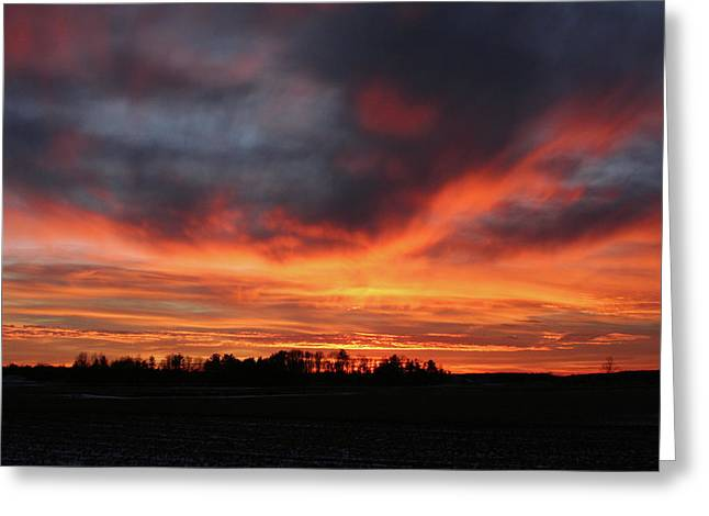 Warm Sunset Glow Greeting Card