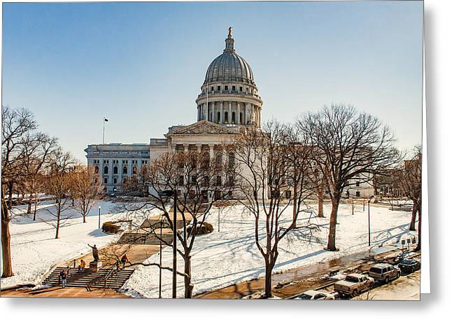 Warm Winter Capitol Greeting Card by Todd Klassy