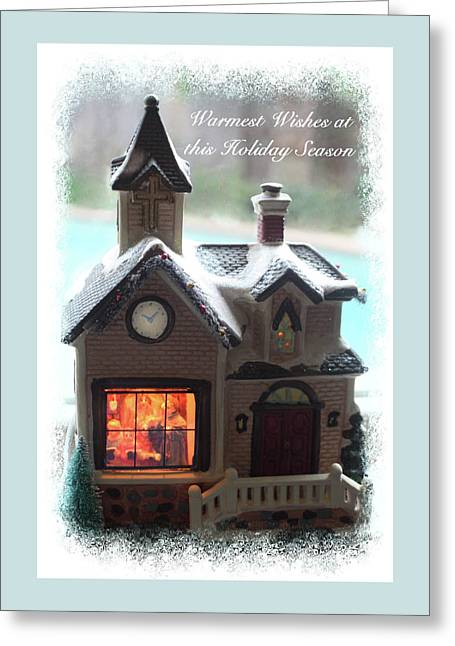 Greeting Card featuring the digital art Warm Wishes Home Card by Ellen Barron O'Reilly