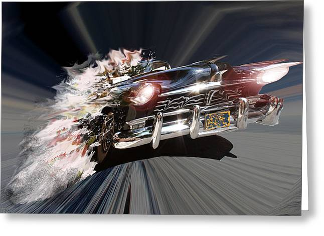 Greeting Card featuring the photograph Warp Speed by Christopher Woods