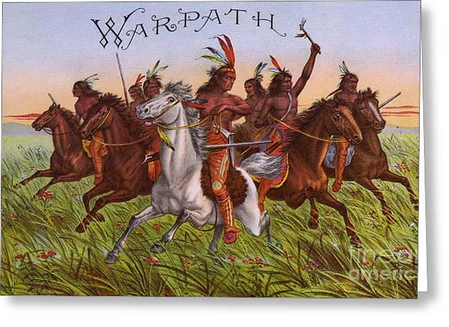 Warpath Vintage Fruit Box Label Greeting Card