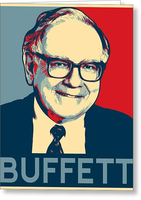 Warren Buffett Greeting Card by MotionAge Designs