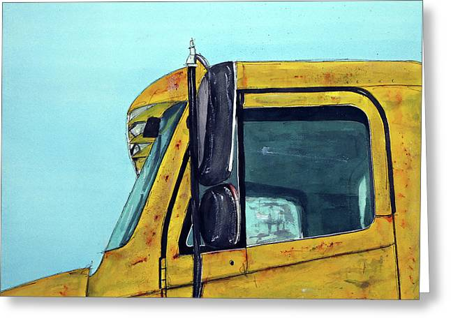 Warren Outt Trucking Co Greeting Card by Tim Ross