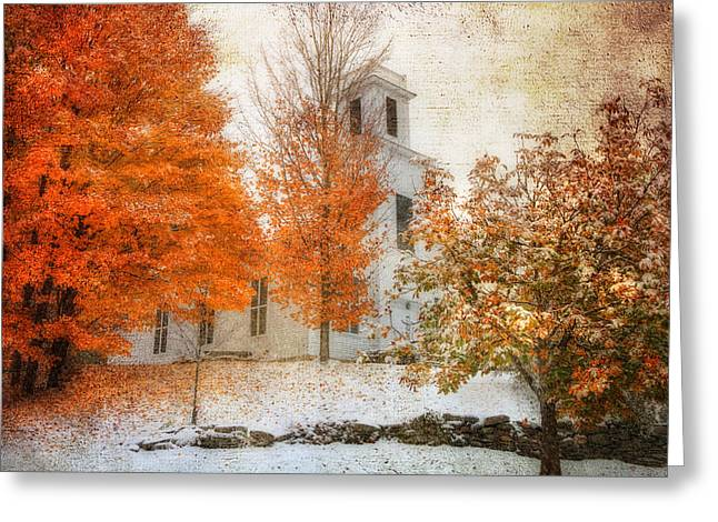 Warren United Church Of Christ Greeting Card by Joann Vitali