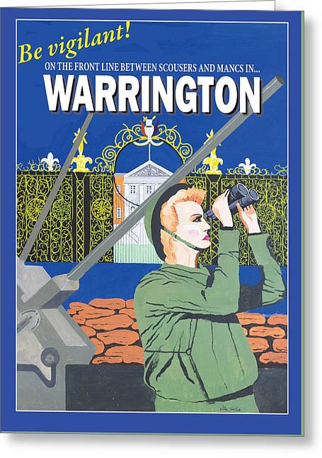 Warrington Poster Greeting Card by Eric Jackson