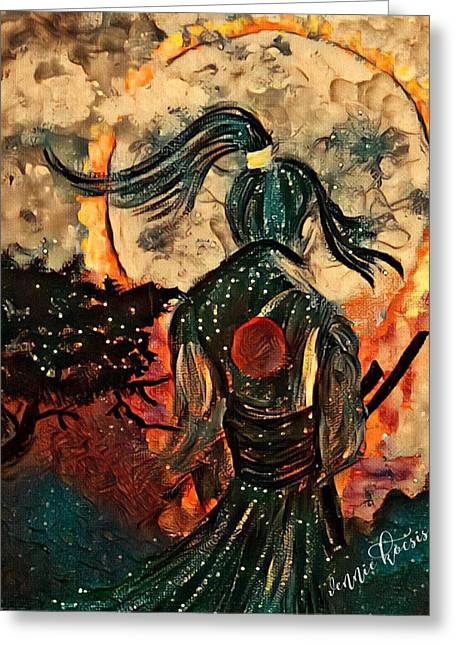 Warrior Moon Greeting Card