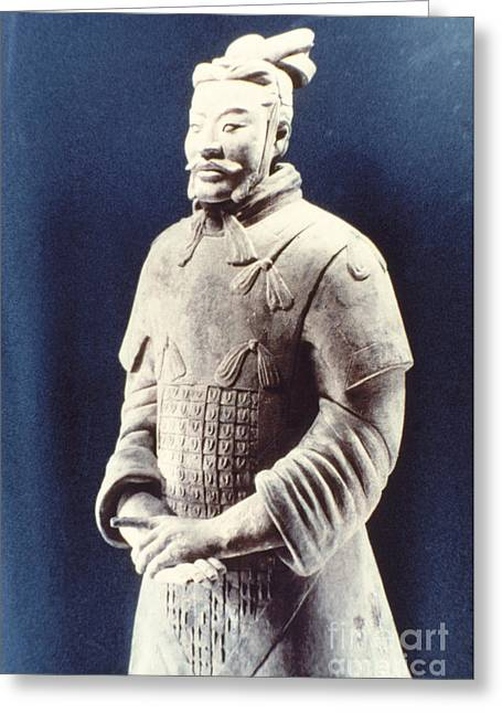 Warrior Of The Terracotta Army Greeting Card by Heiko Koehrer-Wagner