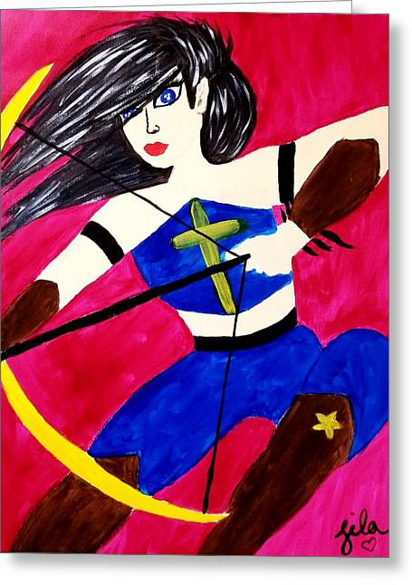 Warrior Queen  Greeting Card