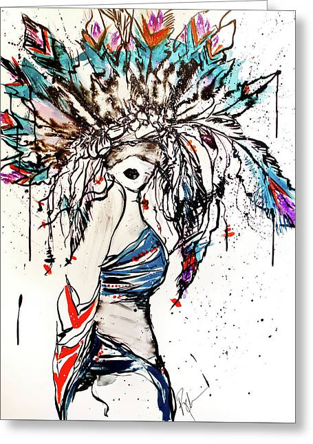 Warrior Greeting Card by Reba Mcconnell