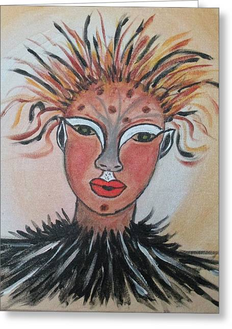Warrior Woman  #3 Greeting Card by Sharyn Winters