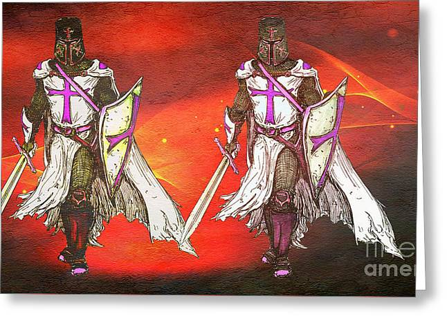 Warriors For The Kingdom Of God Greeting Card