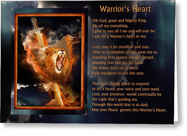 Warrior's Heart Poetry Greeting Card
