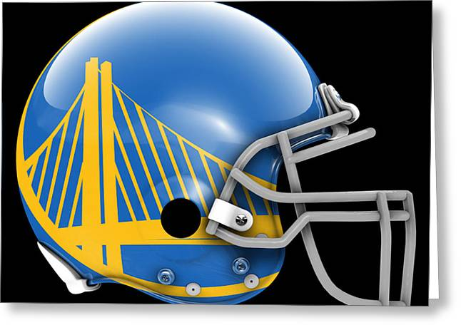 Warriors What If Its Football Greeting Card by Joe Hamilton