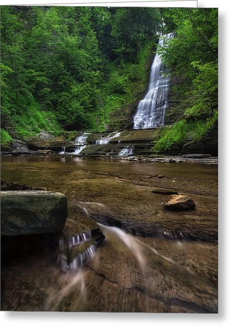 Greeting Card featuring the photograph Warsaw Falls 2 by Mark Papke