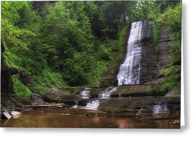 Greeting Card featuring the photograph Warsaw Falls by Mark Papke