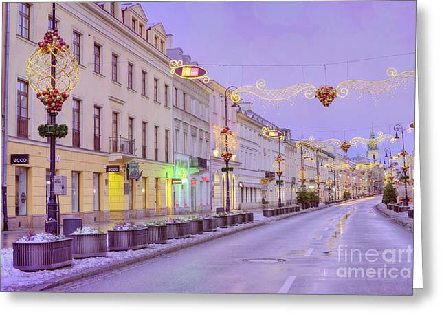 Greeting Card featuring the photograph Warsaw by Juli Scalzi