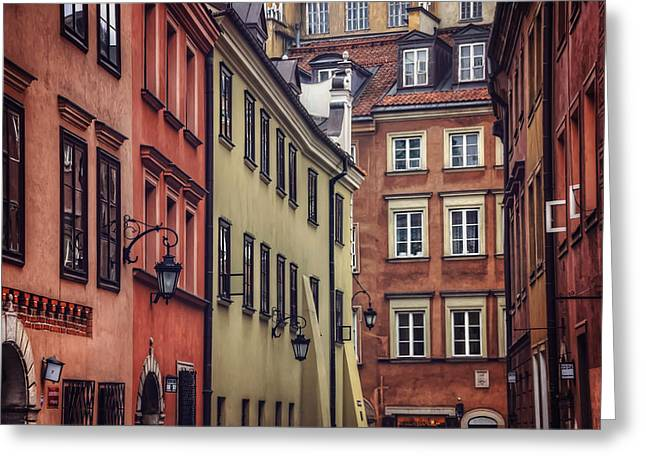 Warsaw Old Town Charm Greeting Card by Carol Japp