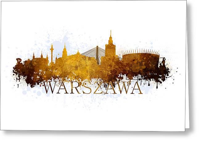 Warszawa Poland Greeting Card by Jaroslaw Blaminsky
