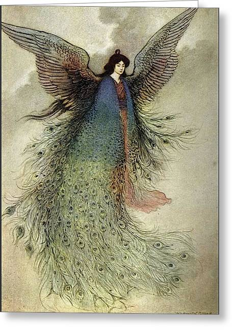 Warwick Goble Greeting Card by MotionAge Designs