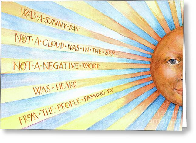 Was A Sunny Day Greeting Card