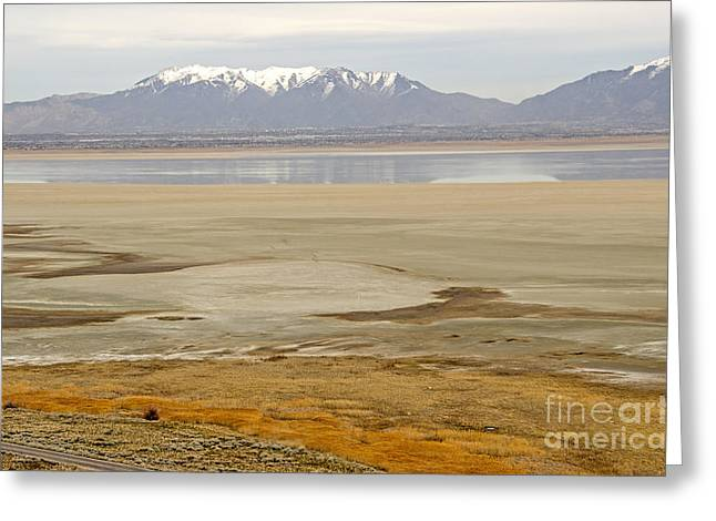Wasatch Mountains From Antelope Island Greeting Card