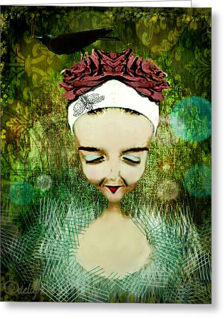 Greeting Card featuring the digital art Wash Your Face Each Night by Delight Worthyn