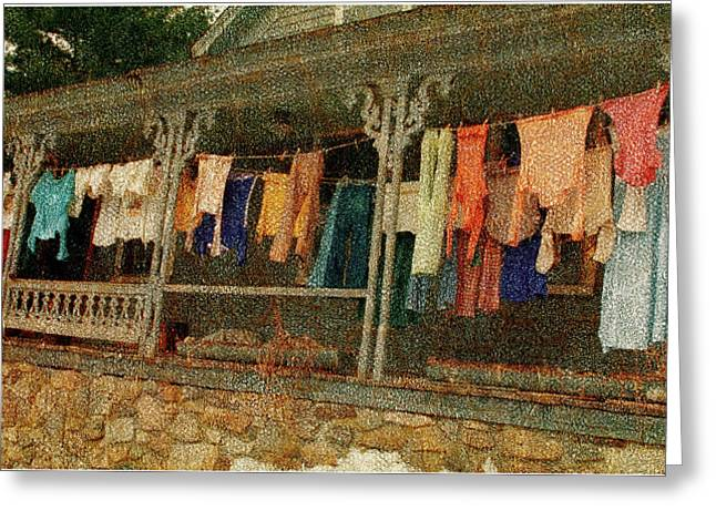 Washday Alton Nh Greeting Card