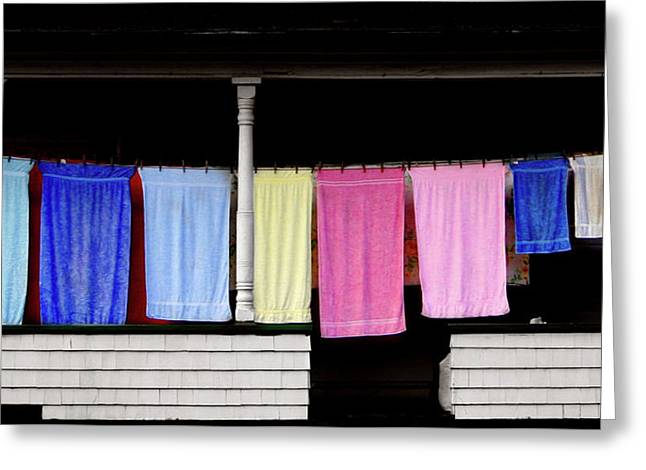Washday In Stark Nh Greeting Card