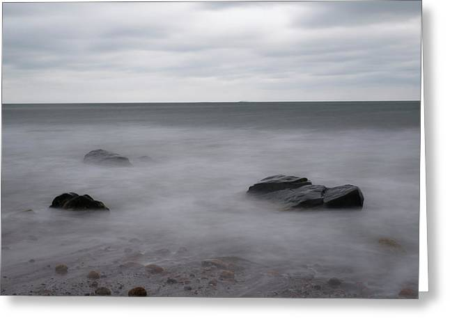 Greeting Card featuring the photograph Washing Over The Beach by Andrew Pacheco
