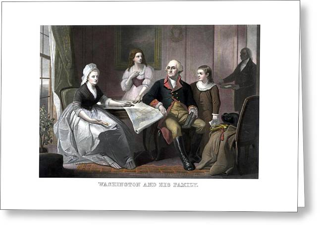 Washington And His Family Greeting Card