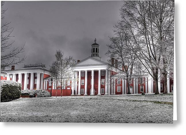 Washington And Lee Law School Greeting Card by Todd Hostetter