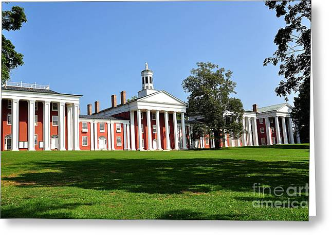 Washington And Lee Greeting Card by Todd Hostetter