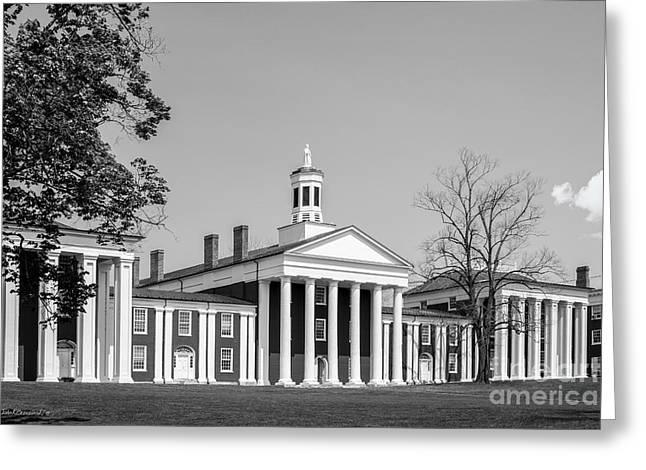 Washington And Lee University Washington Hall Greeting Card by University Icons