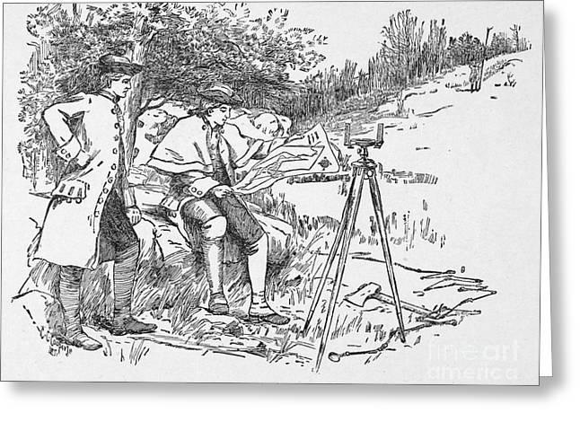 Recently Sold -  - 18th Century Greeting Cards - Washington As Surveyor Greeting Card by Granger