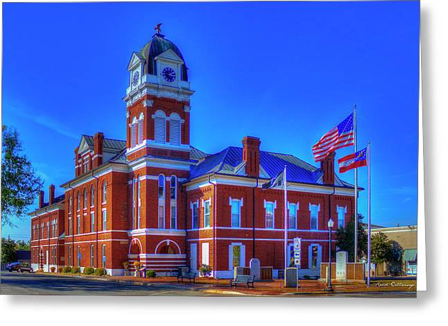 Washington County Courthouse Art Greeting Card by Reid Callaway