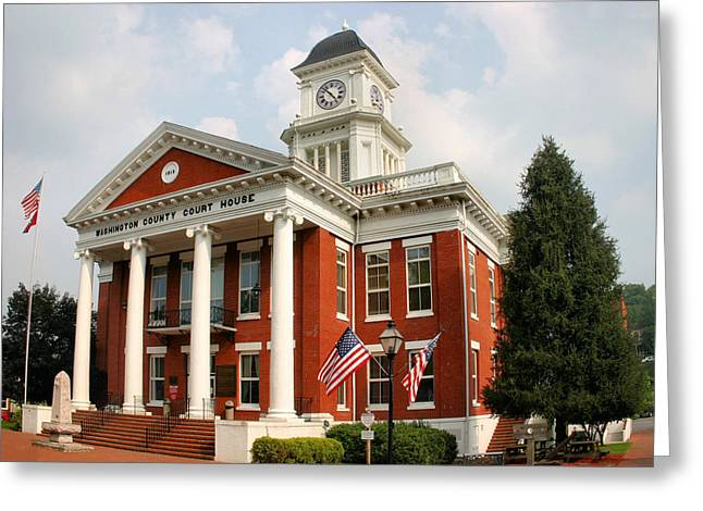 Washington County Courthouse Greeting Card by Kristin Elmquist