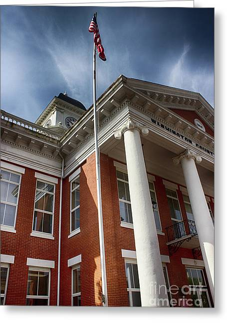Washington County Courthouse Greeting Card by Tom Gari Gallery-Three-Photography