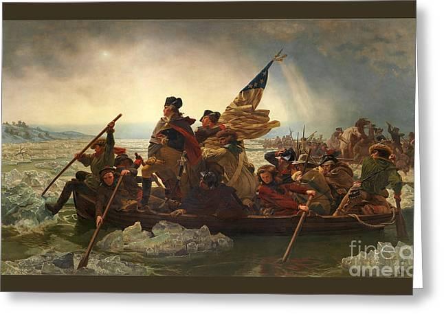 Washington Crossing The Delaware Greeting Card by John Stephens