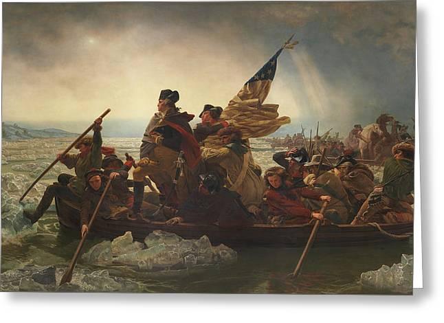 Washington Crossing The Delaware Painting  Greeting Card by Emanuel Gottlieb Leutze