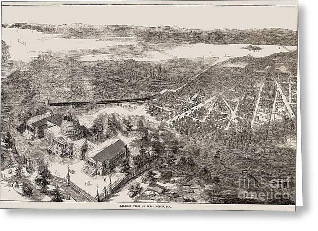 Washington, D.c., 1861 Greeting Card by Granger