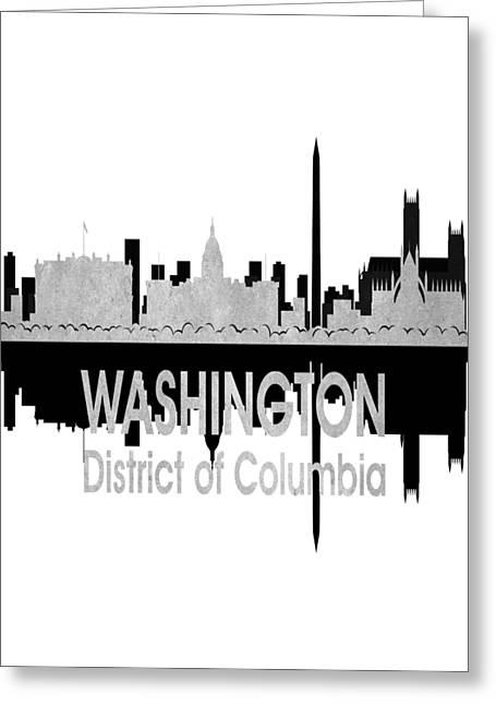 Washington Dc 4 Vertical Greeting Card by Angelina Vick