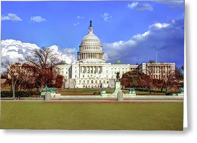 Washington Dc Capitol Building Greeting Card