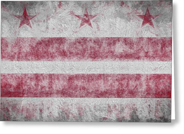 Greeting Card featuring the digital art Washington Dc City Flag by JC Findley