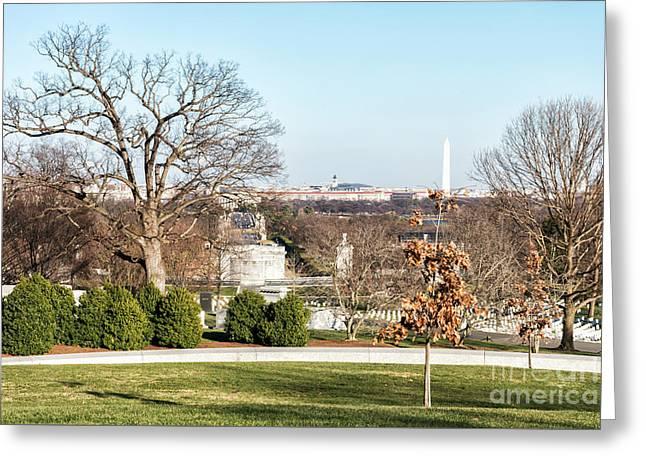 Washington Dc City Landscape Greeting Card