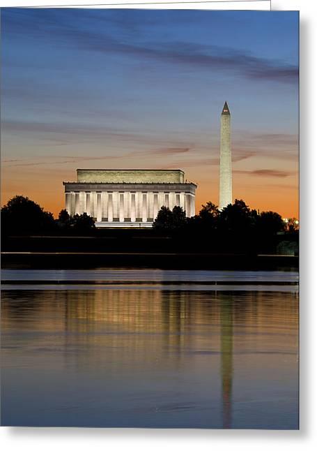 Washington Dc From The Potomac River Greeting Card