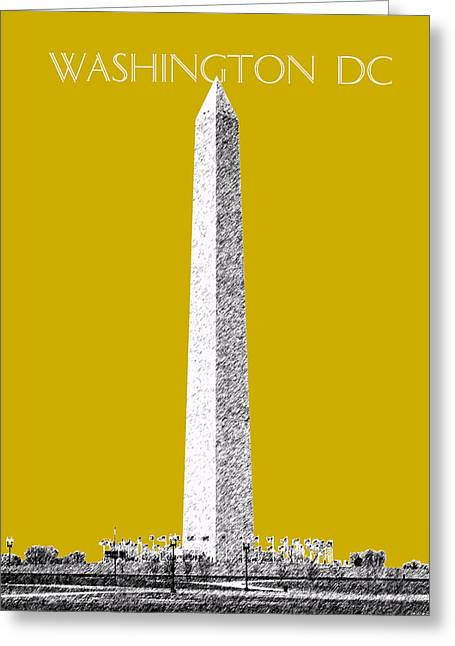 Washington Dc Skyline Washington Monument - Gold Greeting Card